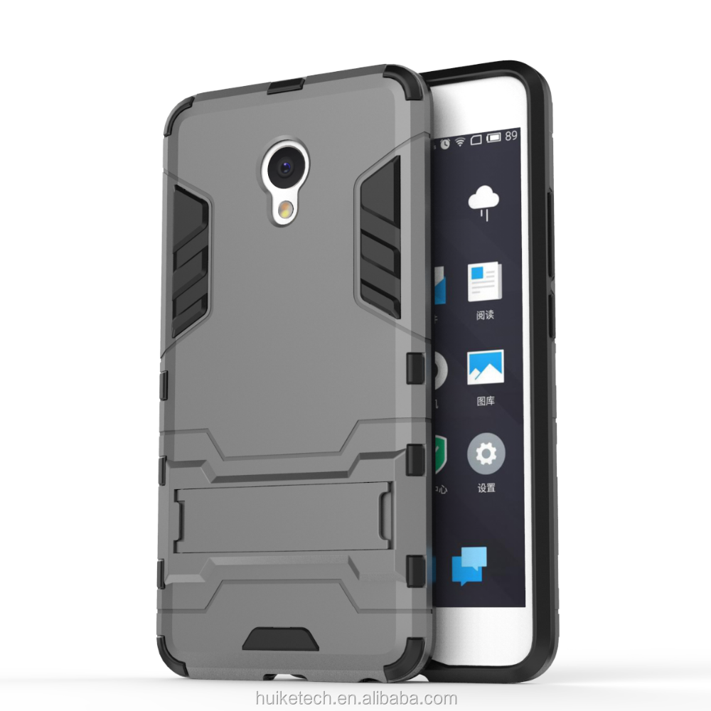 Wholesale 2 in 1 Shockproof Cell Phone Case With Kickstand for Meizu/Meilan
