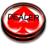 Big Blind\Small Blind Dealer Button 11mm custom made engraved logo snap button on snap