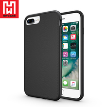HWcase factory price tpu pc shockproof unique design Leather Bumper case for iPhone 7 Plus