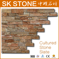 [ SK STONE ] Cultured Stone,Wall Panel Cludding,Rusty Natural Wall Slate