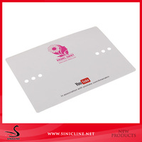 Sinicline custom 250gsm white paper card headband display cards