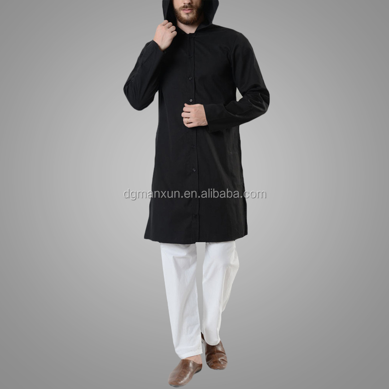Men cotton hooded tops islamic men clothing newest arabic tunic