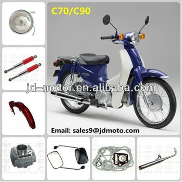 Gasket/dowel/cylinder/gear for HONDA c70 90