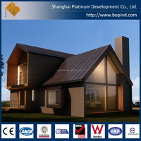 Modern residential customized steel buildings with 2 storey house designs and floor plans