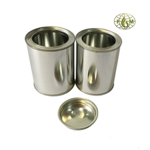 small round candle tin can paint can with lid supplier