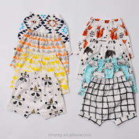 KS10082A 2016 new collections baby summer soft cotton shorts fashion print harem pants
