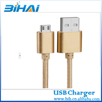 Micro USB Aluminum Connector Nylon Fabric Braided usb data cable for sumsung for Samsung for Android phone