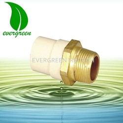 male adaptor with brass threaded insert cpvc pipe