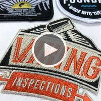 Embroidered brand logo custom embroidery patches sew on / iron for clothing