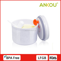 PP plastic freshness food safe food storage opaque white container