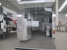 2015 hot sale 2 horse angle load float with kitchen