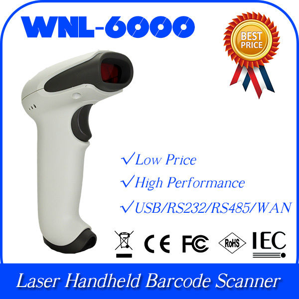 wholesale automatically RS485 port 1D laser bar code handheld scanner