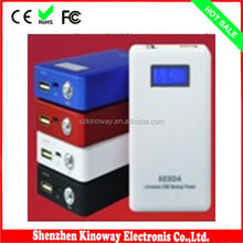 Factory Produce Portable Mobile Phone 2014 External Aluminum AA Battery Power Bank Laptop Useage