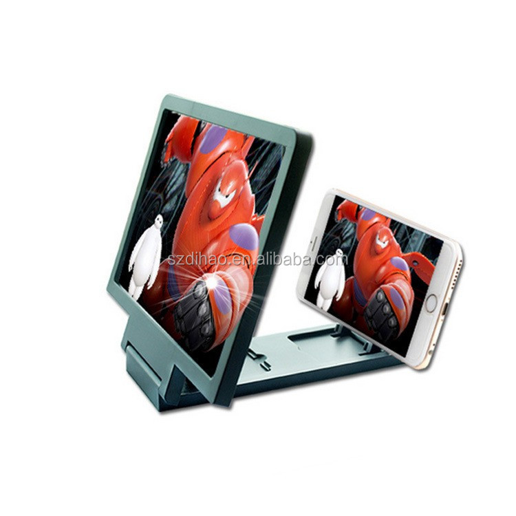 DIHAO The Latest Design Portable Stretchable Wholesale mobile phone screen magnifier, 3D Enlarged Screen Mobile Phone