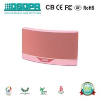 DSPPA DSP818 High Quality Stereo Wifi Speaker with Aux Audio Source input Pink wifi speaker