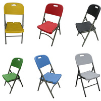 Promotional plastic outdoor garden folding banquet chairs