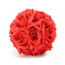 Wholesale Cheap Silk 15cm Artificial Hanging Decorative Flower Ball for Wedding Decoration