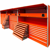 High-level big space combination tool cabinet / stainless steel tool chest / tool box set mechanic