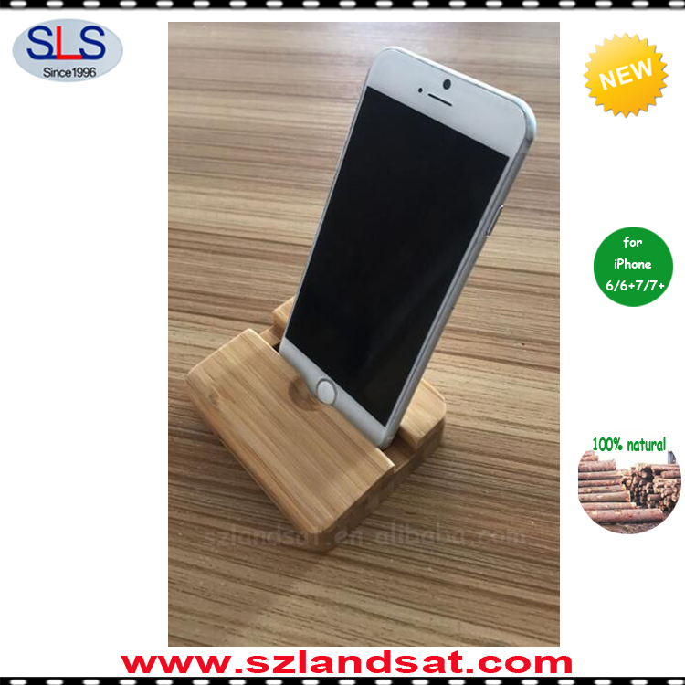 2016 new handcrafted bamboo wooden stand speaker amplifier for iphone 6 7 plus stand amplifier speaker BS600B