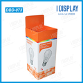 Point of purchase corrugated cardboard dump bin display box for bulb