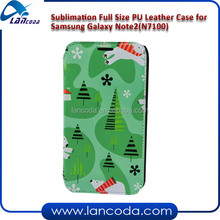 Sublimation pu leather case for Samsung Note II N7100