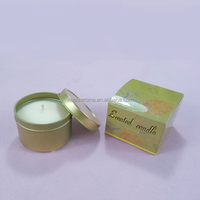 scented soy candle & Aromatherapy Type and Round Shape travel candle tin container