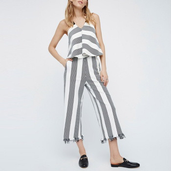 Best Online Selling Modern Women Pant Sets Sexy Hot Pant for Girl with Striped Crazy Pattern