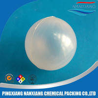 plastic pp material Solid boundless floating ball&38mm 50mm Plastic hollow ball