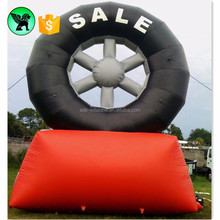 5m Inflatable Tire Customized Giant Advertising Tire Inflatable For Promotion A1379