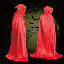Witch Costume The Death Costume Magician Long Cloak Gown Hooded Cloaks Cape Multicolor Unisex Halloween Costumes