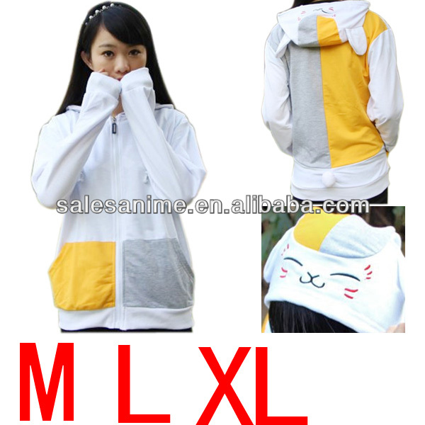 Wholesales Anime Natsume Yuujinchou long Sleeve Cat Hoodie Jacket