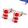 Fire extinguisher cufflinks hot-sale custom enamel cufflinks suit firemen