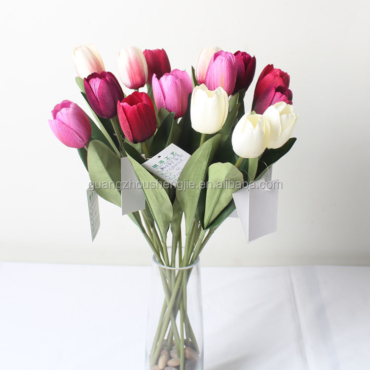 CHY013830 Factory direct artificial flower/ tulip Soft touch/ touch pu tulips