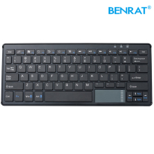 Slim portable bluetooth wireless keyboard built in mouse for laptop