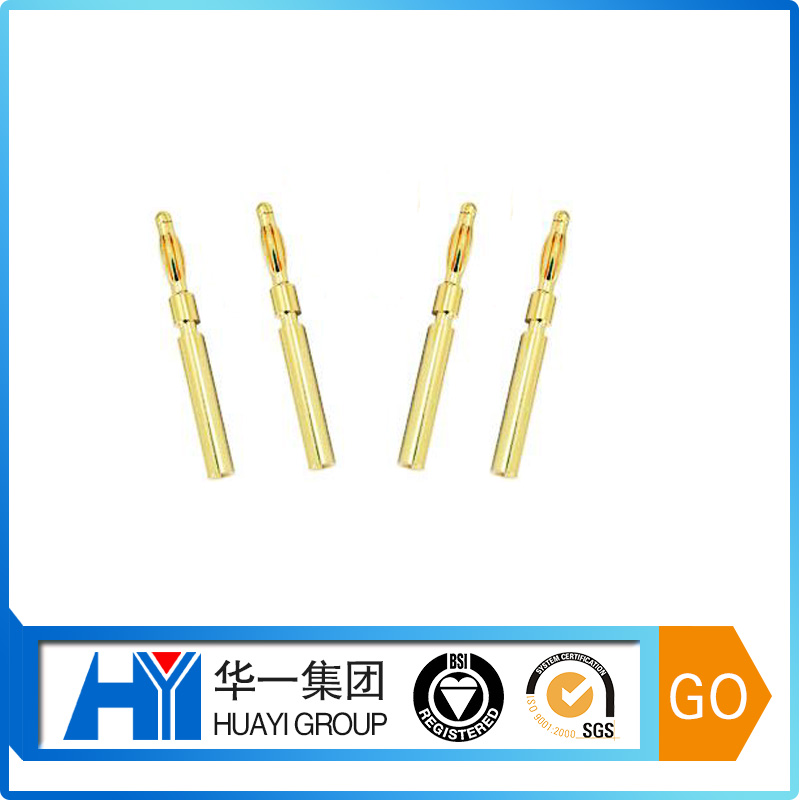 Custom 2.0mm extended electrical banana plugs