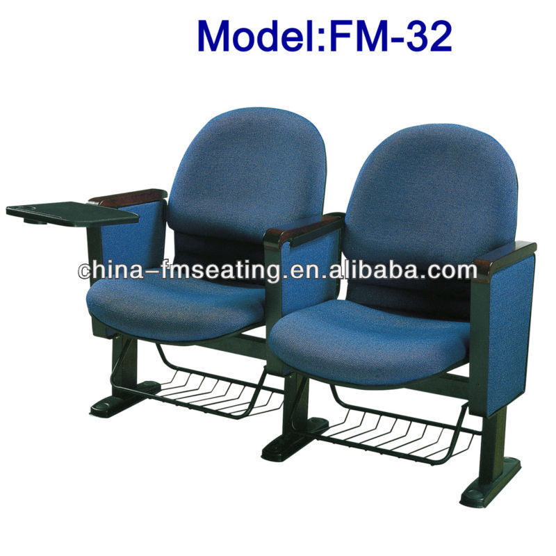 FM-32 Foldable pray church chair with tablet and basket