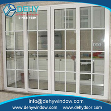 American style tempered glass upvc window for prefab homes with low price