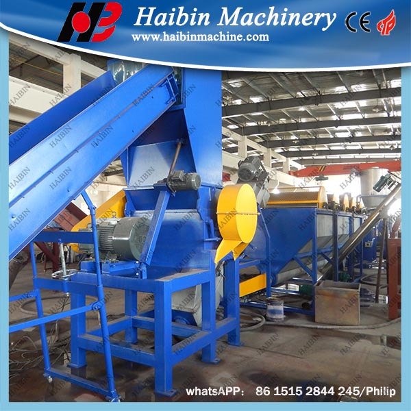 automatic pp pe film plastic scrap washing recycling machine
