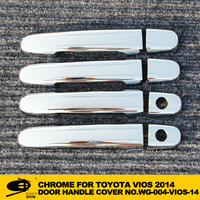 Chrome door handle cover for TOYOTA VIOS 2014 chromed car lighting accessories chromed car accessories 8 pcs/set