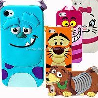 2015 New Cute 3D silicone Rubber Cases Covers for Mobile phone