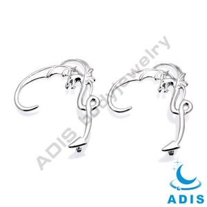 Animal Fantasy Gothic Pagan Sterling Ear Cuff piercing jewelry