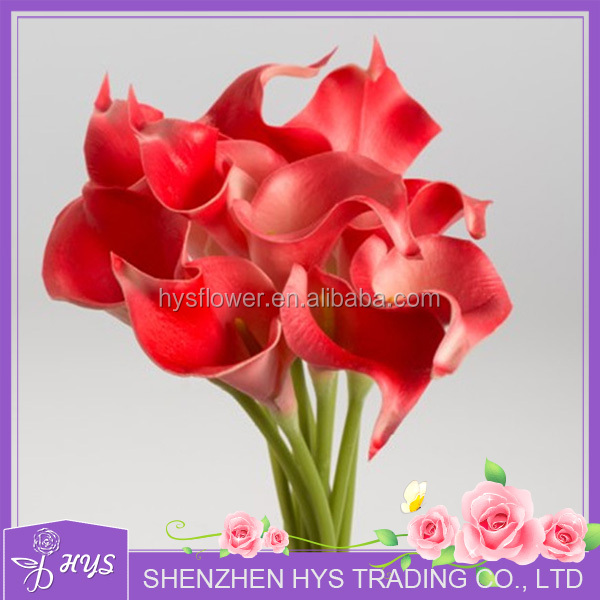 Red Artificial Calla Lily for Wedding Decoration PU Artificial <strong>Flower</strong>