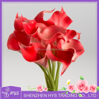 Red Artificial Calla Lily for Wedding Decoration PU Artificial Flower