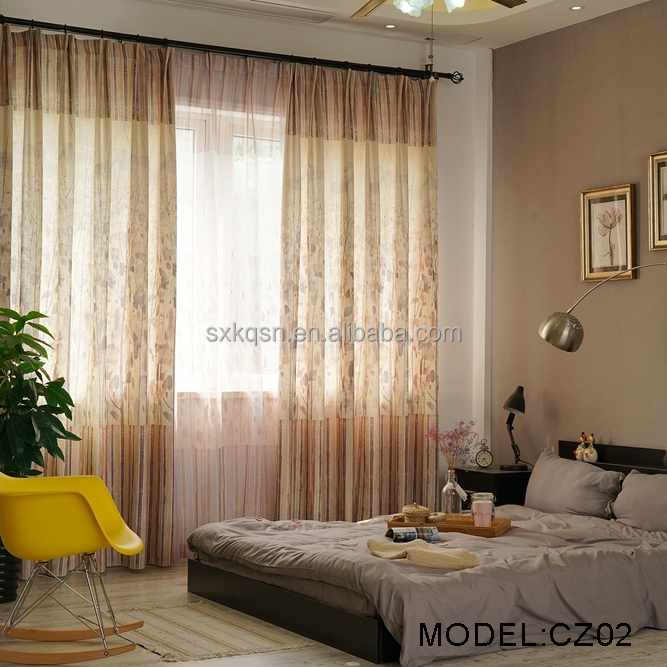 Eco-friendly blackout branches print curtain curtains