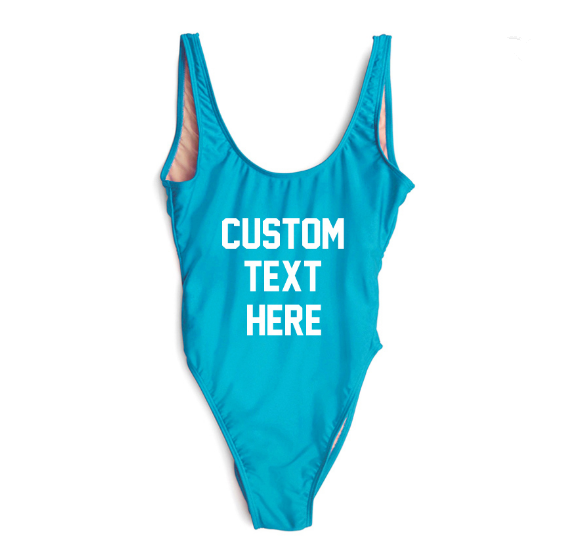 Hot High Quality One Pieces Swimsuit Women Bathing Suit Letter Print Beach Sexy Swimsuit