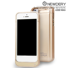 New Published 4200mAh Wireless Charging Backup External Battery Case For iPhone 5 5S 5C Power Case