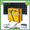Solar Light Generator 230W 5/12Vdc 110/220Vac output AC charger & inverter with built-in battery,LED bulbs USB kit