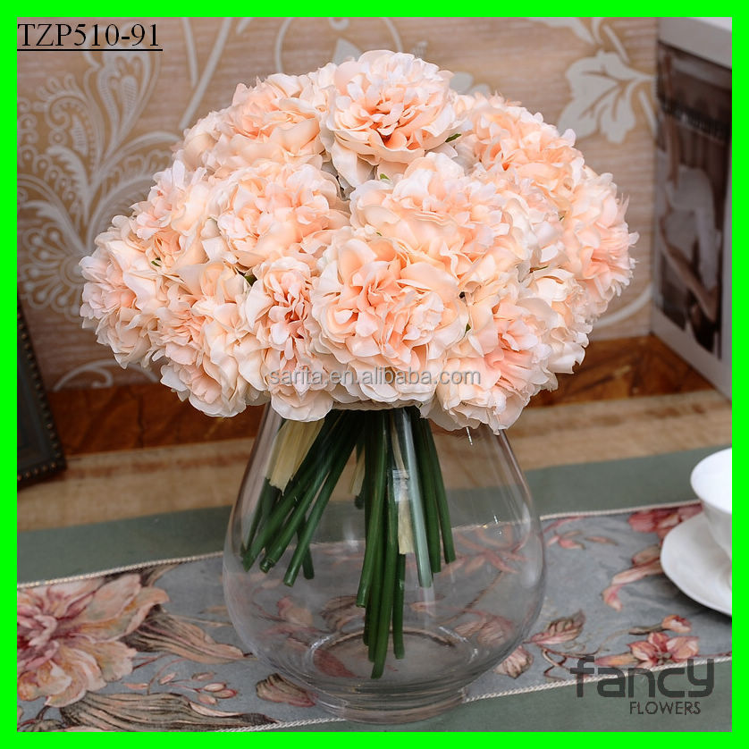 5 heads peony silk flower wedding bouquet wholesale artificial flower buy wedding bouquet. Black Bedroom Furniture Sets. Home Design Ideas