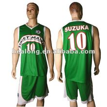 2012 new 100% polyester basketball jersey
