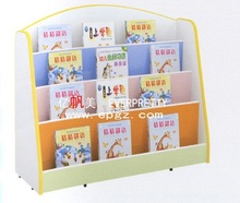 2018 New Design Fashion Mobile Library Wood Bookshelf Kids Bookcase Wall Design Wooden Book Rack